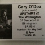 Tickets for Wellington - Brum gig,