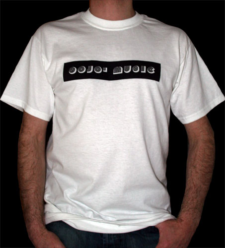 Gojo Music Black On White T Shirt Gojo Music