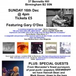 Poster for Songwriter Session @ Wellington - SKEWWHIFF 16-12-18