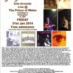 Gary O'Dea live poster for The Prince of Wales - Brum Fri 31 Jan 2014