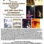 Gary O'Dea live poster for The Morton Brewery Festival, Coven Sat 28 June 2014