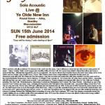 Gary O'Dea live poster for Ye Olde New Inn - Arley June 15 2014