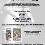 Gary O'Dea poster for NDB 20-3-15 2015