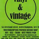Flyer for Vinyl & Vintage