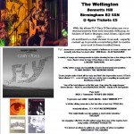 Gary O'Dea live poster for The Wellington - Birmingham Sun 14-5-2017