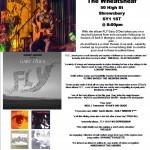 Gary O'Dea live poster for The Wheatsheaf - Shrewsbury 11 March 2017