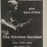 Kitchen Garden Cafe flyer with Martin Stephenson