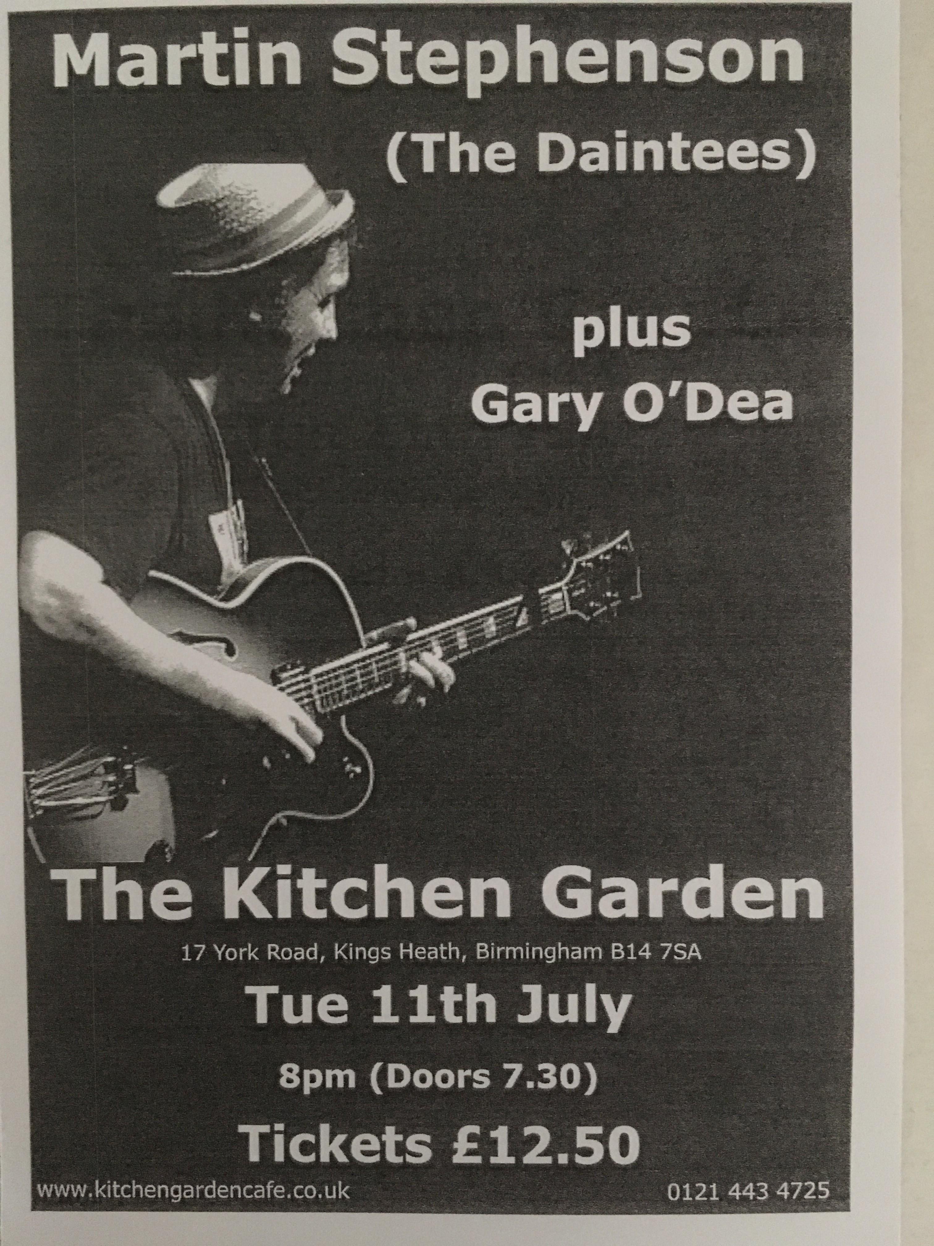 Kitchen Garden Cafe With Martin Stephenson Gojo Music