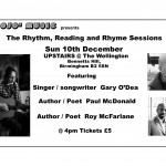 Ticket master  for Rhythm, Reading & Rhyme gig @ The Wellington - Birmingham Sun 10-12-2017