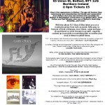 Gary O'Dea live poster for The Sunflower - Belfast Fri 23-2-18