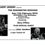 Ticket master  for Songwriter Sessions  - (John Jenkins) @ The Wellington - Birmingham Sun 11-2-2018