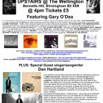 Gary O'Dea live poster for The Wellington - Songwriter Sessions with Dan Hartland - Birmingham Sun 13-5-2018
