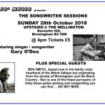 Ticket master 1 for Songwriter Sessions @ The Wllington - Ben Smith 28-10-18